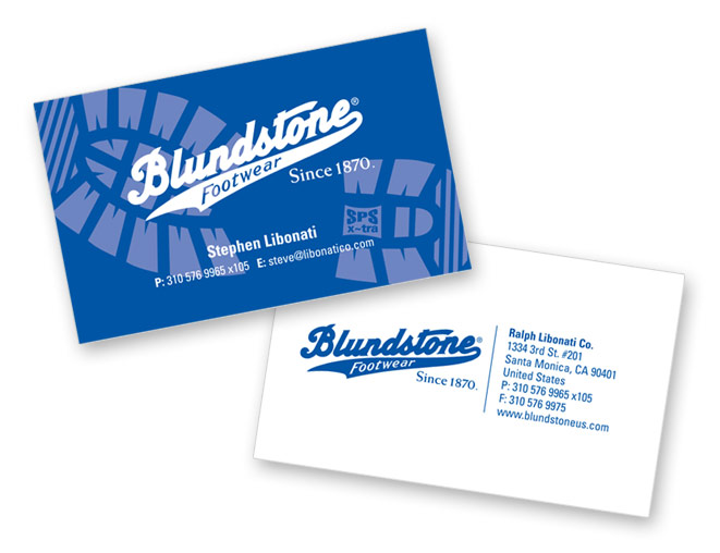 Blundstone business card design onit creativeonit creative business card design for blundstone footwear reheart Choice Image