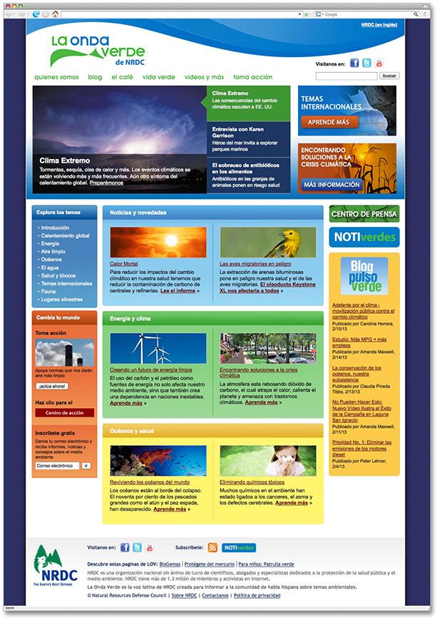 Website Design For NRDC La Onda Verde