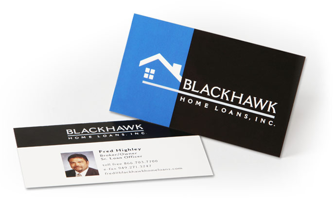 home design card. Logo design and branding package for Blackhawk Home Loans  Design OnIt CreativeOnIt Creative