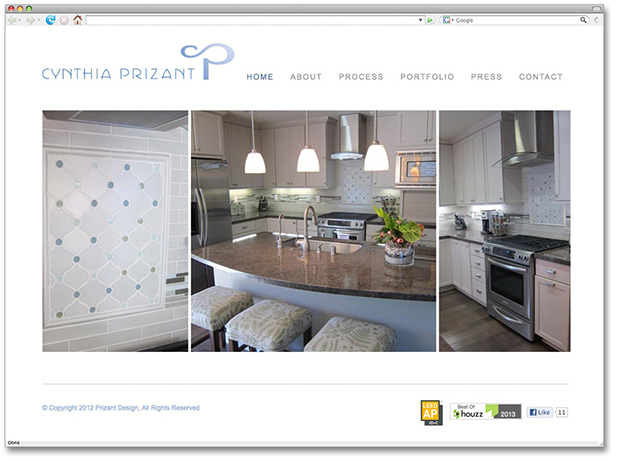Perfect Website Design And Website Development For Cynthia Prizant Interior Design.